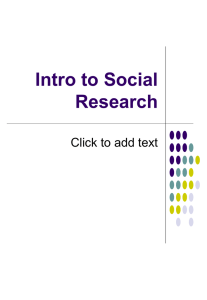 Intro to Social Research Click to add text