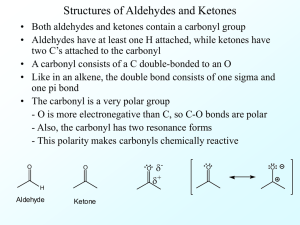 Structures of Aldehydes and Ketones