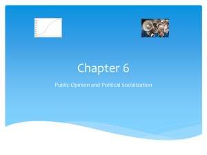 Chapter 6 Public Opinion and Political Socialization
