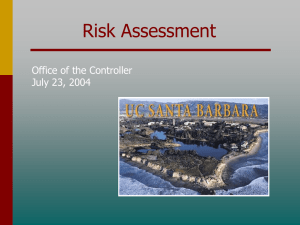 Risk Assessment Office of the Controller July 23, 2004