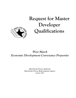 Request for Master Developer Qualifications