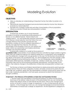 Modeling Evolution  OBJECTIVES