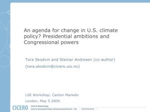 An agenda for change in U.S. climate policy? Presidential ambitions and