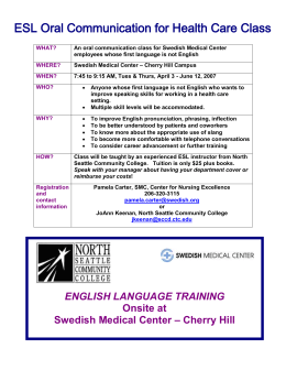 ESL Oral Communication for Health Care Class
