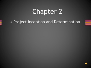 Chapter 2 • Project Inception and Determination