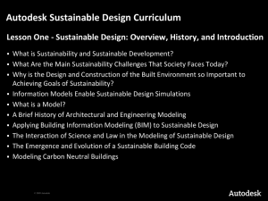 Autodesk Sustainable Design Curriculum