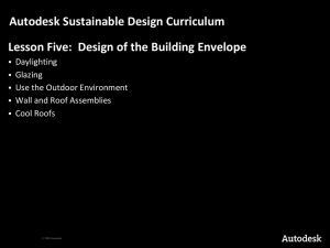 Autodesk Sustainable Design Curriculum Daylighting Glazing