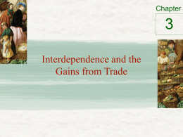 3 Interdependence and the Gains from Trade Chapter