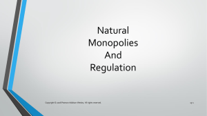 Natural Monopolies And Regulation