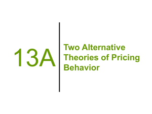 13A Two Alternative Theories of Pricing Behavior