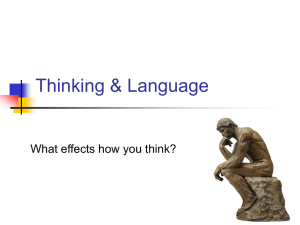 Thinking & Language What effects how you think?