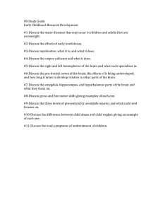 08-Study Guide Early Childhood-Biosocial Development