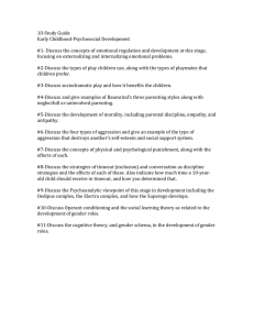 10-Study Guide Early Childhood-Psychosocial Development