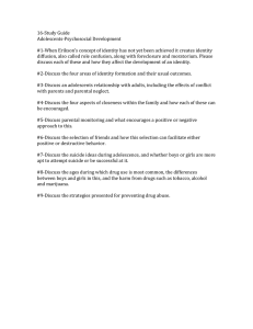 16-Study Guide Adolescents-Psychosocial Development