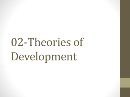 02-Theories of Development