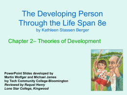 The Developing Person Through the Life Span 8e – Theories of Development