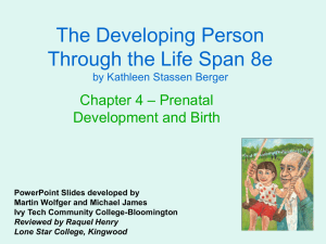 The Developing Person Through the Life Span 8e – Prenatal Chapter 4