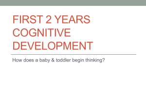 FIRST 2 YEARS COGNITIVE DEVELOPMENT How does a baby & toddler begin thinking?