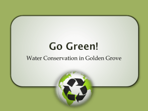 Water Conservation in Golden Grove