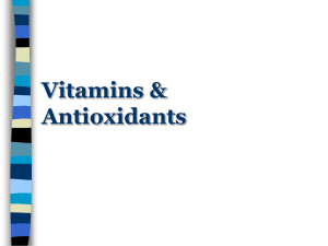 Vitamins & Antioxidants