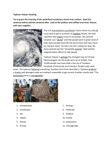 Typhoon Haiyan: Reading