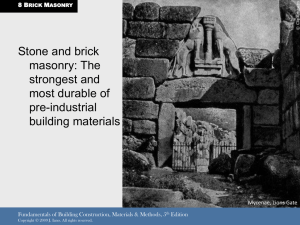 Stone and brick masonry: The strongest and most durable of