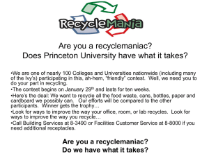 Are you a recyclemaniac? Does Princeton University have what it takes?