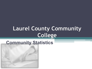 Laurel County Community College Community Statistics