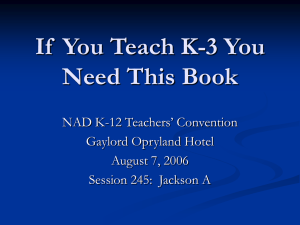 If  You Teach K-3 You Need This Book Gaylord Opryland Hotel