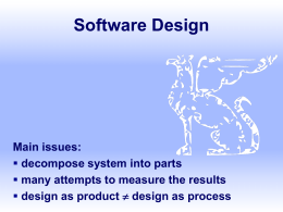SYSTEM SOFTWARE DESIGN ISSUES PDF