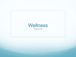 Wellness What is it?