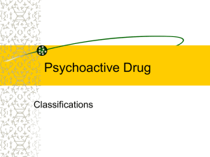 Psychoactive Drug Classifications