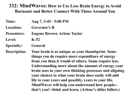 332: MindWaves: How to Use Less Brain Energy to Avoid