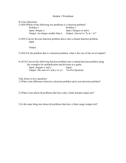 Module 3 Worksheet  In Class Questions