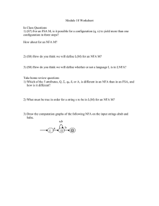 Module 18 Worksheet  In Class Questions