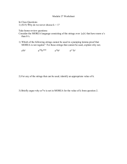 Module 27 Worksheet  In Class Questions