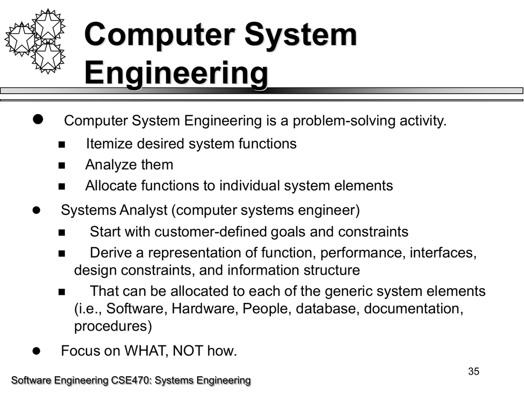 Computer System Engineering 