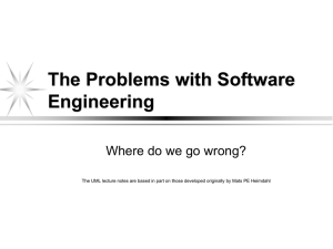 The Problems with Software Engineering Where do we go wrong?