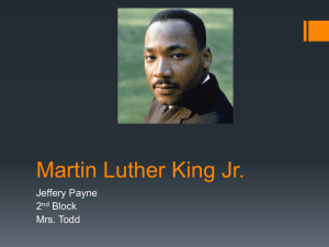 Martin Luther King Jr. Jeffery Payne 2 Block