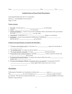 Guided Notes to Power Point Presentation