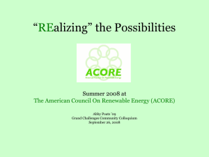 """ alizing"" the Possibilities RE Summer 2008 at"