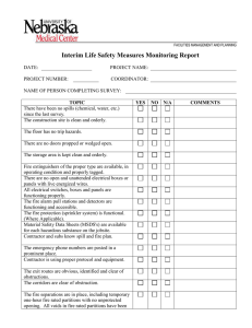 Interim Life Safety Measures Monitoring Report