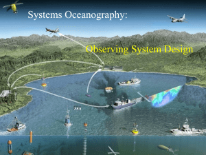 Systems Oceanography: Observing System Design