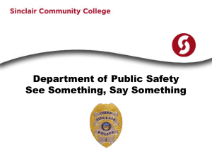 Department of Public Safety See Something, Say Something