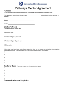 Pathways Mentor Agreement  Purpose