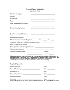 External Grant Submission Approval Form