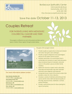 Couples Retreat  October 11-13, 2013 Save the date