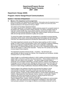 Department/Program Review Self-Study Report Template 2007 - 2008 Department: Design (0220)