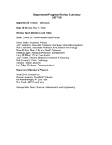 Department/Program Review Summary 2007-08
