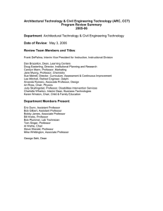 Architectural Technology & Civil Engineering Technology (ARC, CCT) Program Review Summary 2005-06 Department